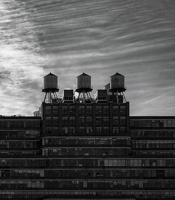 Photograph - New York Water Towers by Michael Hope