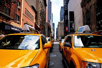 Photograph - Nyc Yellow Cab Street View by Matt Harang