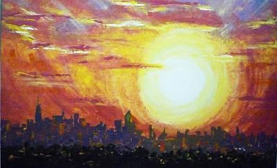 Nycity Sunset Art Print by Patti Bean