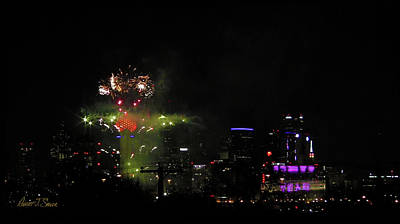 Photograph - N Y E  2017-2018 Fireworks Dallas by Robert J Sadler
