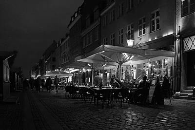 Photograph - Nyhavn At Night by Inge Riis McDonald