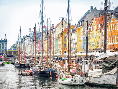 Photograph - Nyhavn Canal by Robin Zygelman