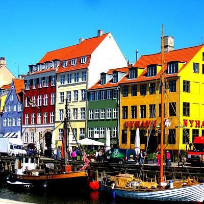 Copenhagen Denmark Digital Art - Nyhavn Copenhagen by Cathy Jacobs