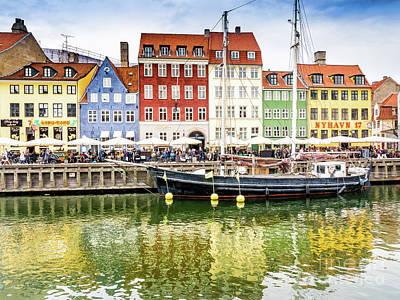 Photograph - Nyhavn, Copenhagen by Robin Zygelman