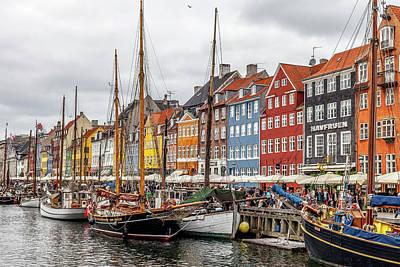Capital Ship Photograph - Nyhavn Copenhagen by W Chris Fooshee