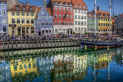 Nyhavn Harbor Area, Copenhagen Art Print