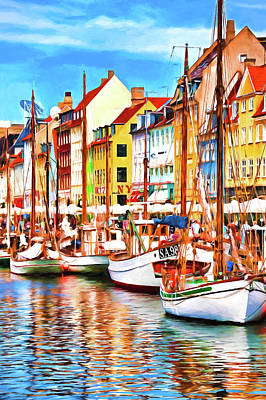 Digital Art - Nyhavn Harbor by Dennis Cox