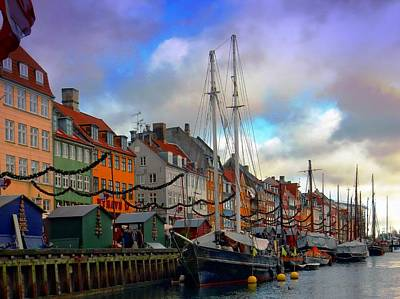 Photograph - Nyhavn Harbour by Dorothy Berry-Lound