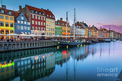 Nyhavn Reflections Art Print by Inge Johnsson
