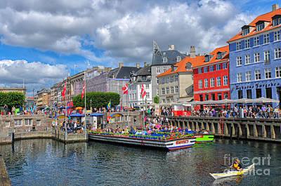 Rosenborg Photograph - Nyhavn Waterfront In Copenhagen, Denmark by Ivan Batinic