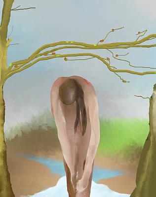 Digital Art - Nymph In The Woods by SC Heffner