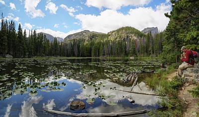 Photograph - Nymph Lake 1 by John Meader