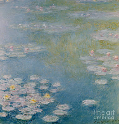 Claude 1840-1926 Painting - Nympheas At Giverny by Claude Monet