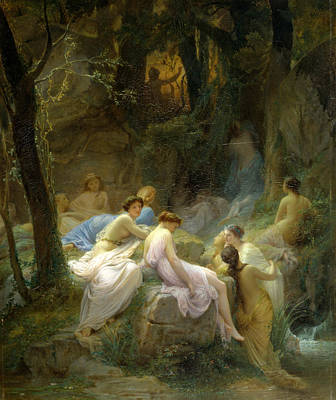 Charles Francois Jalabert Painting - Nymphs Listening To The Songs Of Orpheus by Charles Francois Jalabert
