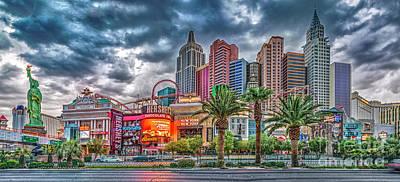 Photograph - Ny_ny Panorama_las Vegas by David Zanzinger