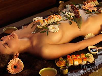 Nyotaimori Body Sushi Print by Oleksiy Maksymenko