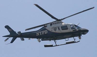 Nypd Photograph - Nypd Aviation Unit by Christopher Kirby