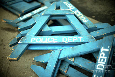 Photograph - Nypd Blue by John Rizzuto