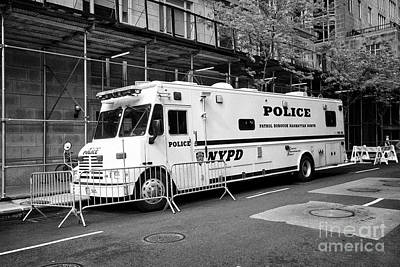 nypd police mobile command center vehicle New York City USA Art Print