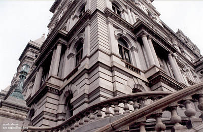 Photograph - nys capitol, SE tower by Mark Alesse
