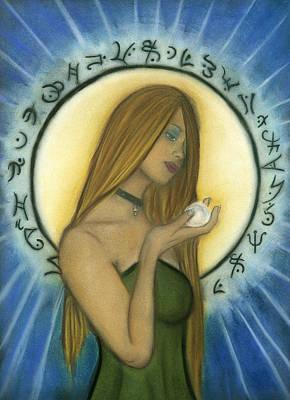 Nyx Goddess Of Night Art Print by Natalie Roberts