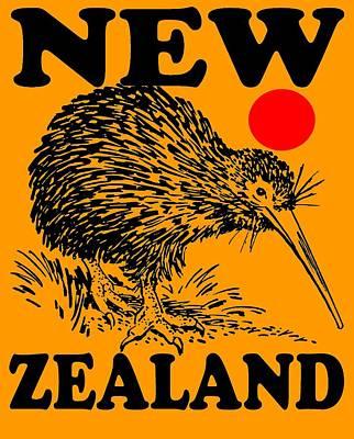 Kiwi Mixed Media - Nz-kiwi by Otis Porritt