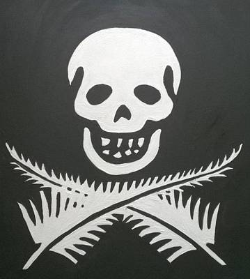 Painting - Nz Pirate Flag by Stacey Austin