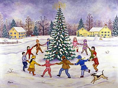 Little Boy Painting - O' Christmas Tree by Linda Mears