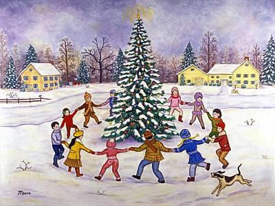 1950s Painting - O' Christmas Tree by Linda Mears