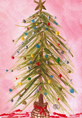 Painting - O Christmas Tree by Maura Satchell