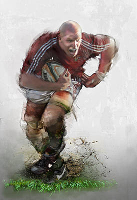 Rugby Painting - O Connell by James Robinson