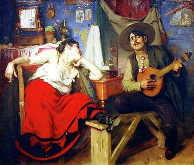 Painting - O Fado by Pg Reproductions
