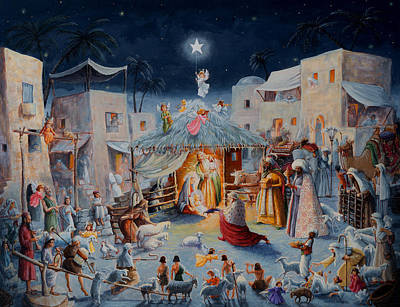 Painting - O Holy Night by Joseph Holodook