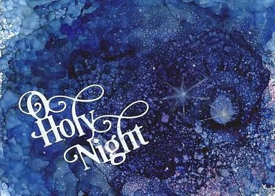 Ursa Minor Painting - O Holy Night by Joy Dorr