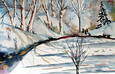 Winter Light Drawing - O Holy Night by Mindy Newman