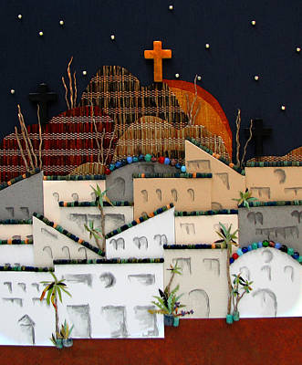 Streetscape Mixed Media - O Jerusalem by Patricia Presseller
