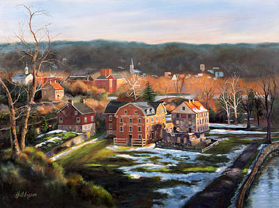 Winter Light Painting - O, Little Town by Diane Hutchinson