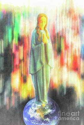 Queen Mary Digital Art - O Mary, Conceived Without Sin, Pray For Us Who Have Recourse To Thee by Davy Cheng