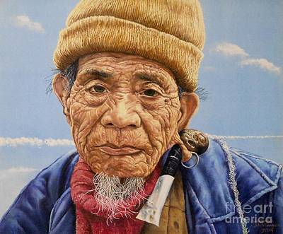 Painting - O Mr Mountain Baguio by Christopher Shellhammer