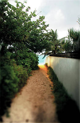 Photograph - Oahu Beach Path by Russell Pierce