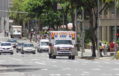 Photograph - Oahu Emergency by RKAB Works