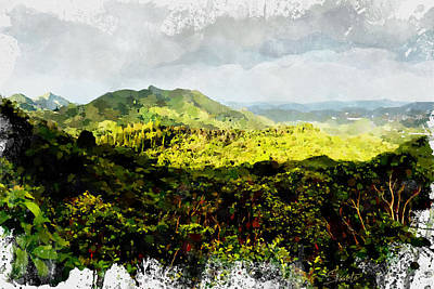Digital Art - Oahu Landscape by Kai Saarto