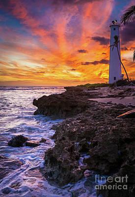 Oahu Lighthouse Art Print by Inge Johnsson