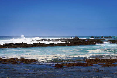 Photograph - Oahu Rocky Beach  by Michael Scott