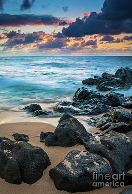 Photograph - Oahu Sunset Beach by Inge Johnsson