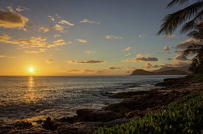 Art Print featuring the photograph Oahu Sunset by RKAB Works