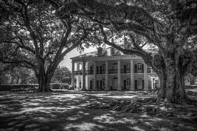 Oak Alley Plantation-bw Art Print