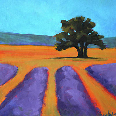 Painting - Oak And Lavender by Nancy Merkle