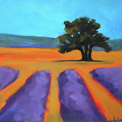 Oak And Lavender Art Print by Nancy Merkle