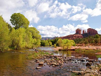 Cathedral Rock Sedona Arizona Photograph - Oak Creek by Alex Cassels